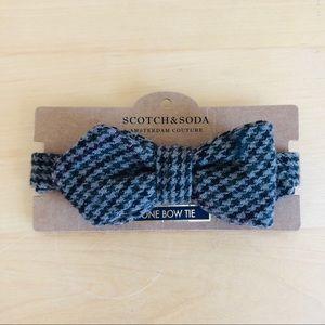 $21 SCOTCH & SODA Houndstooth Tweed Bow Tie NWT